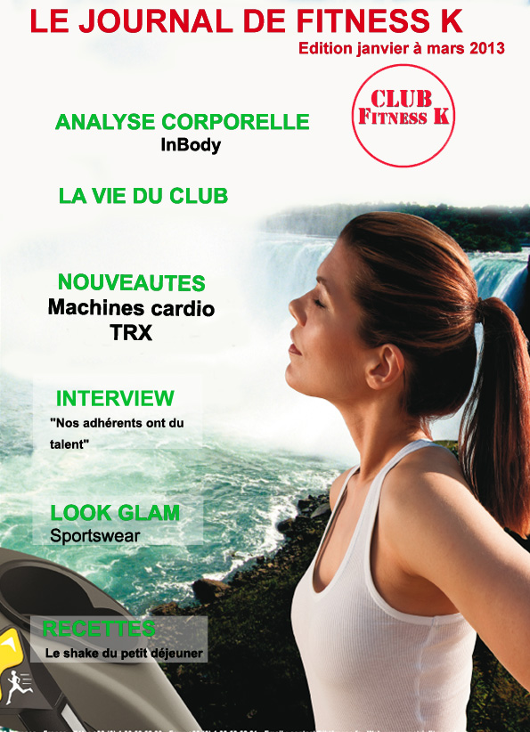 Couverture du Journal de FITNESS K Janv à mars 2013.