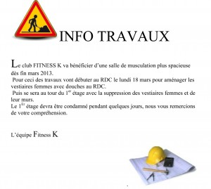 Agrandissement Club Fitness K