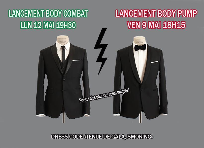 Lancement Body Combat et Body Pump